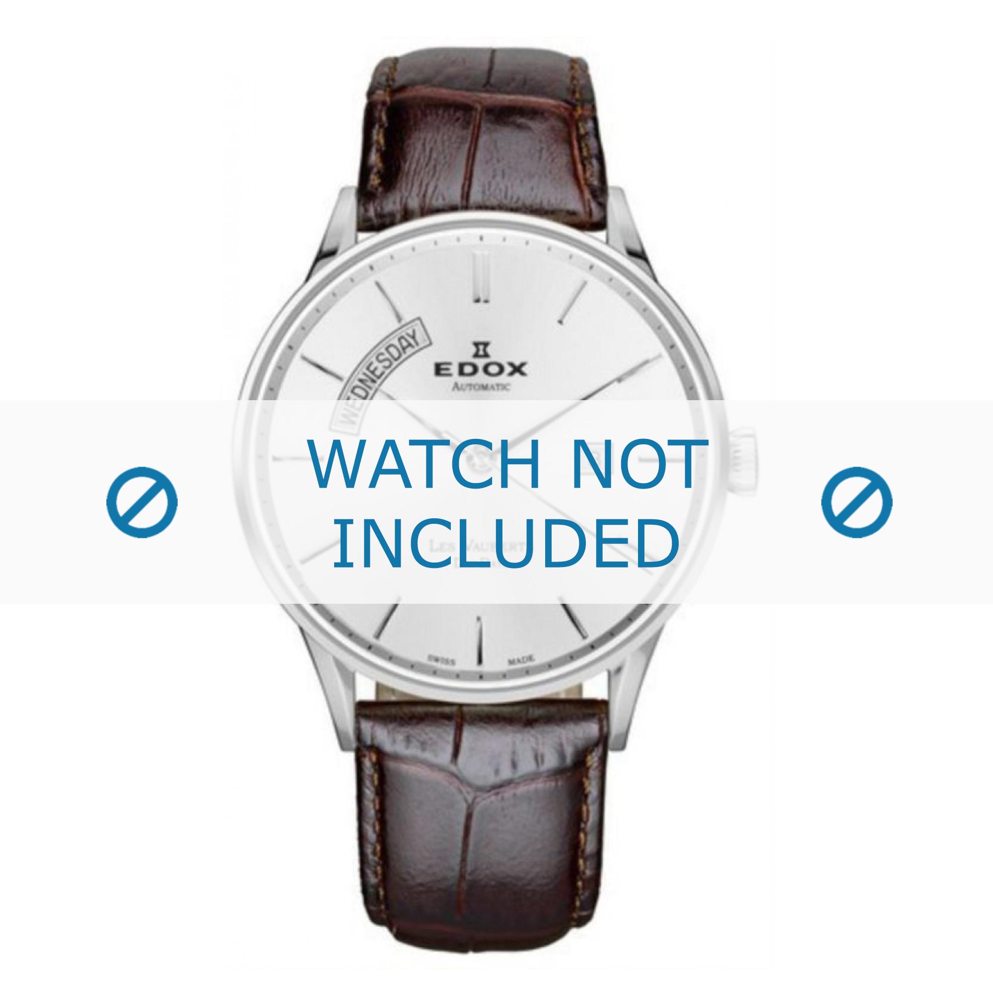 Edox horlogeband 83010-3B-AIN Leder Bruin + standaard stiksel