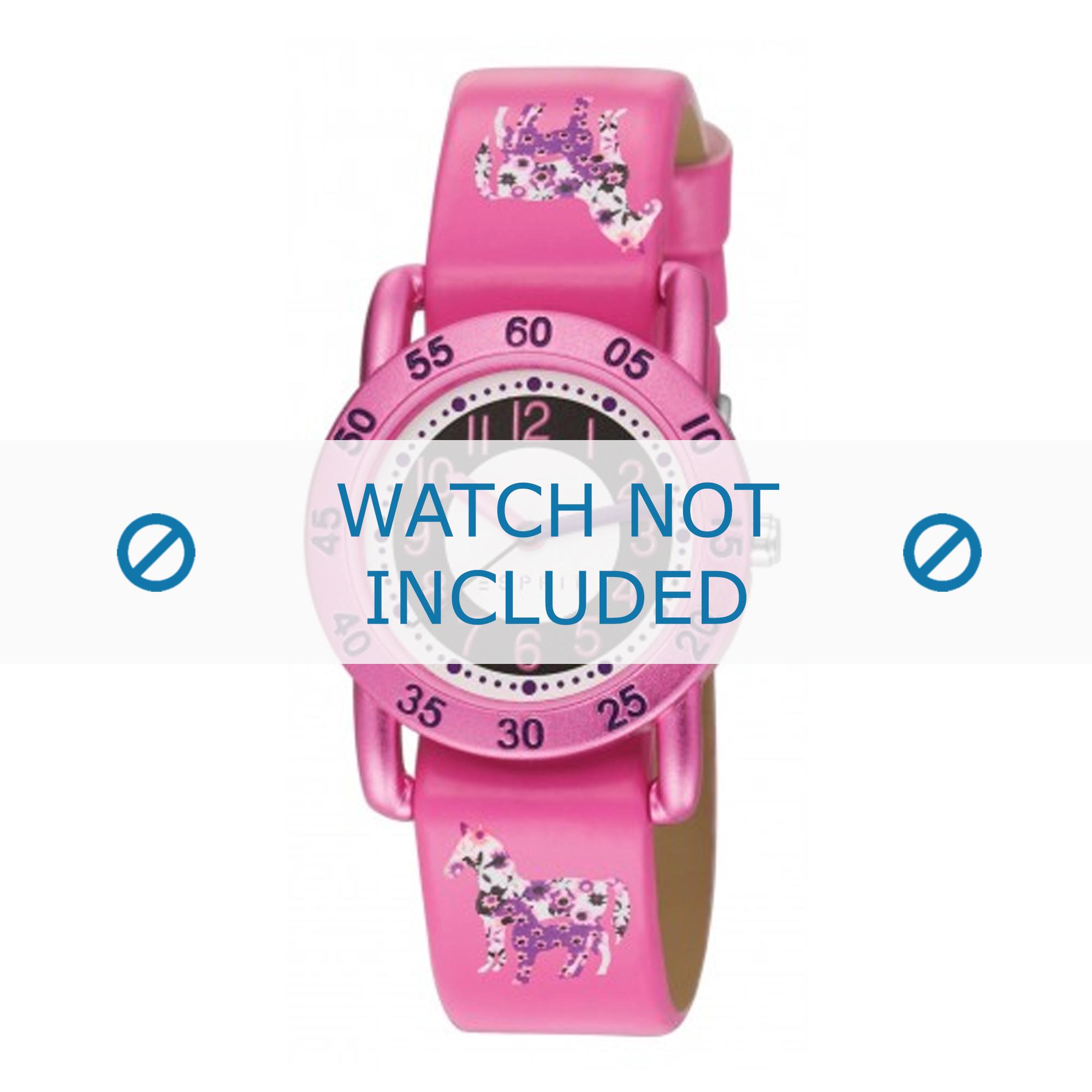 Esprit horlogeband ES102764-010 Leder Roze