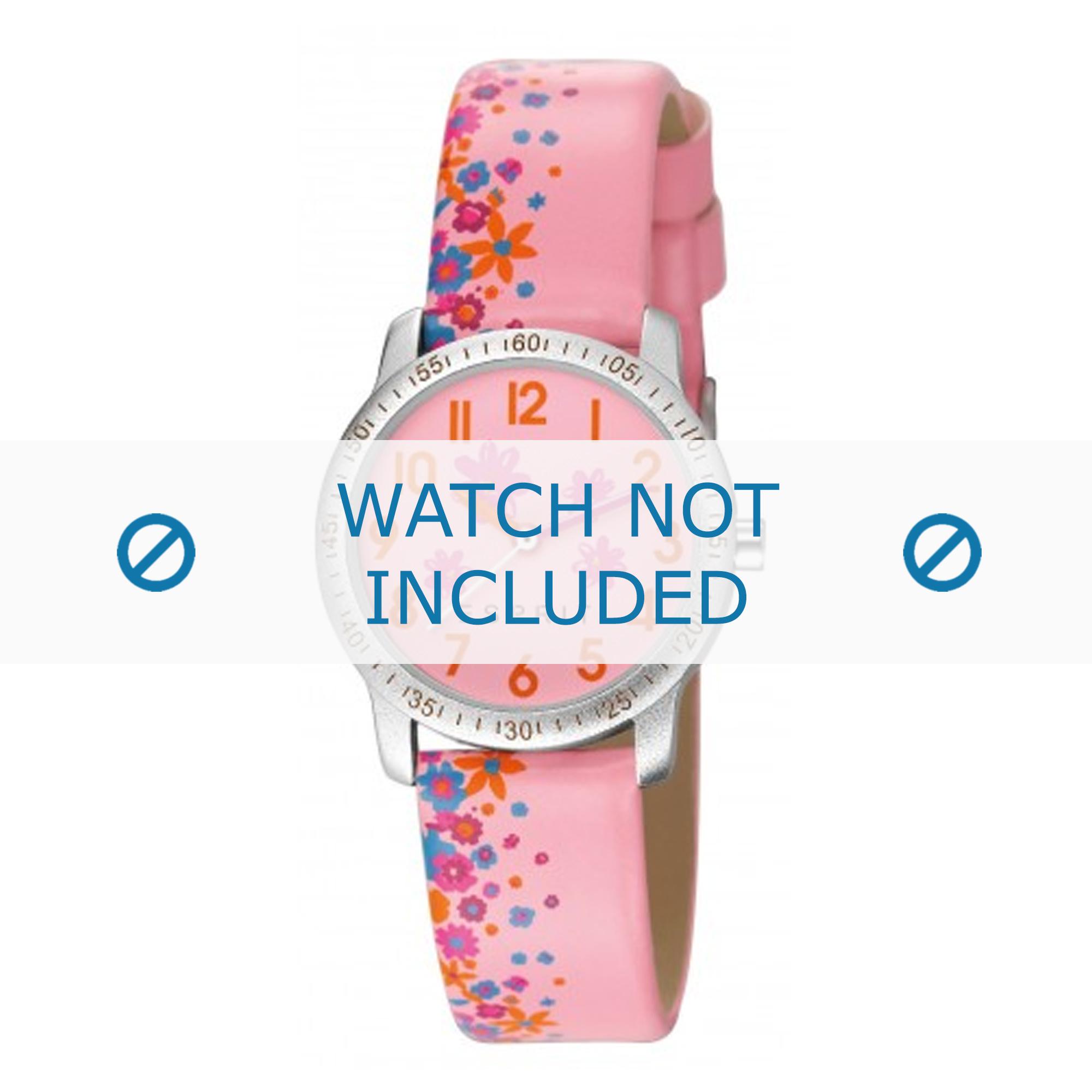 Esprit horlogeband ES103524-014 Leder Roze