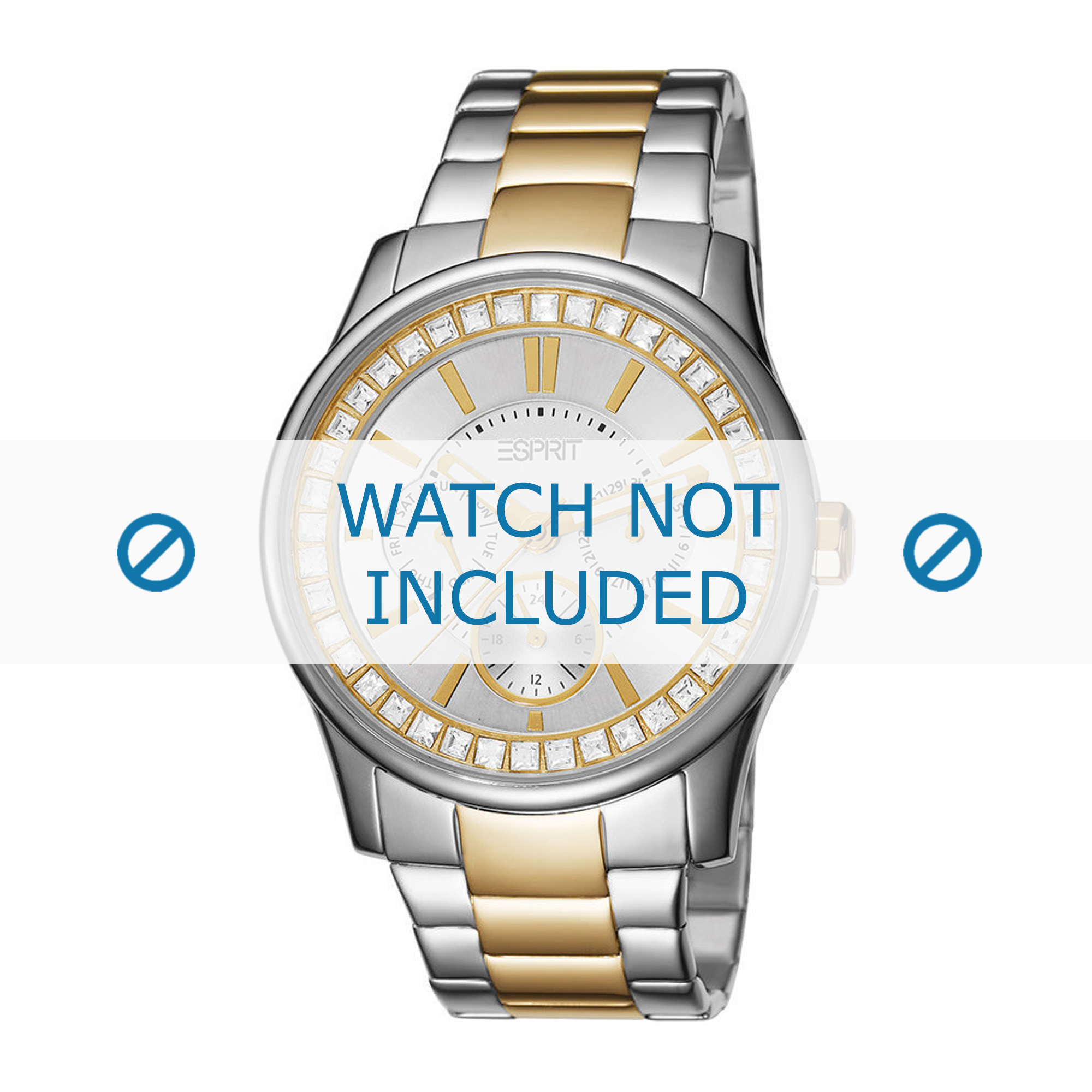 Esprit horlogeband ES105442-002 Staal Bi-Color