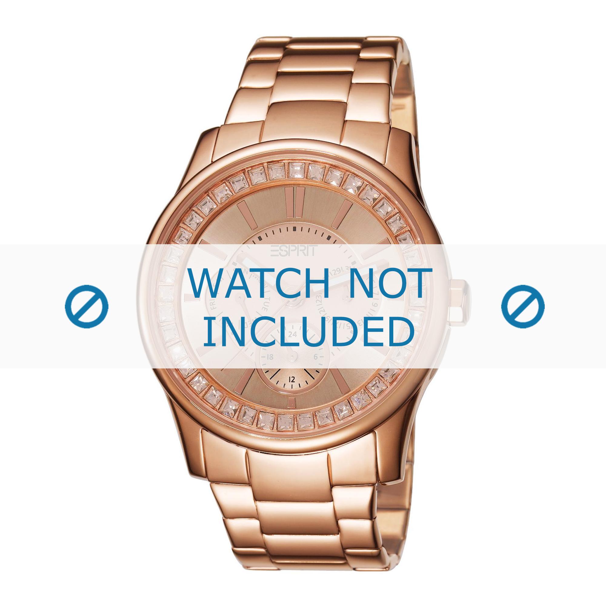 Esprit horlogeband ES105442-004 Staal Rosé