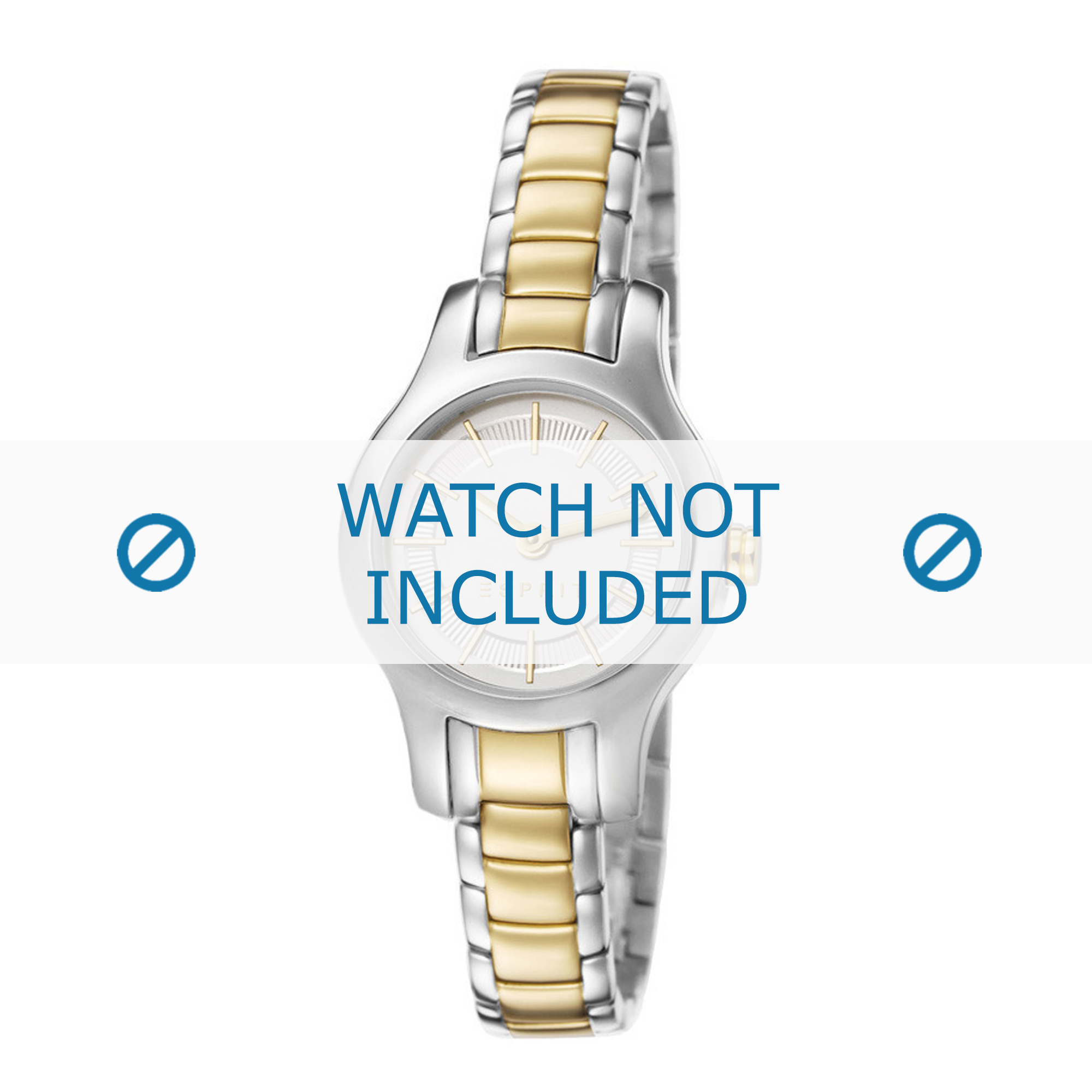 Esprit horlogeband ES107082-002 Staal Bi-Color