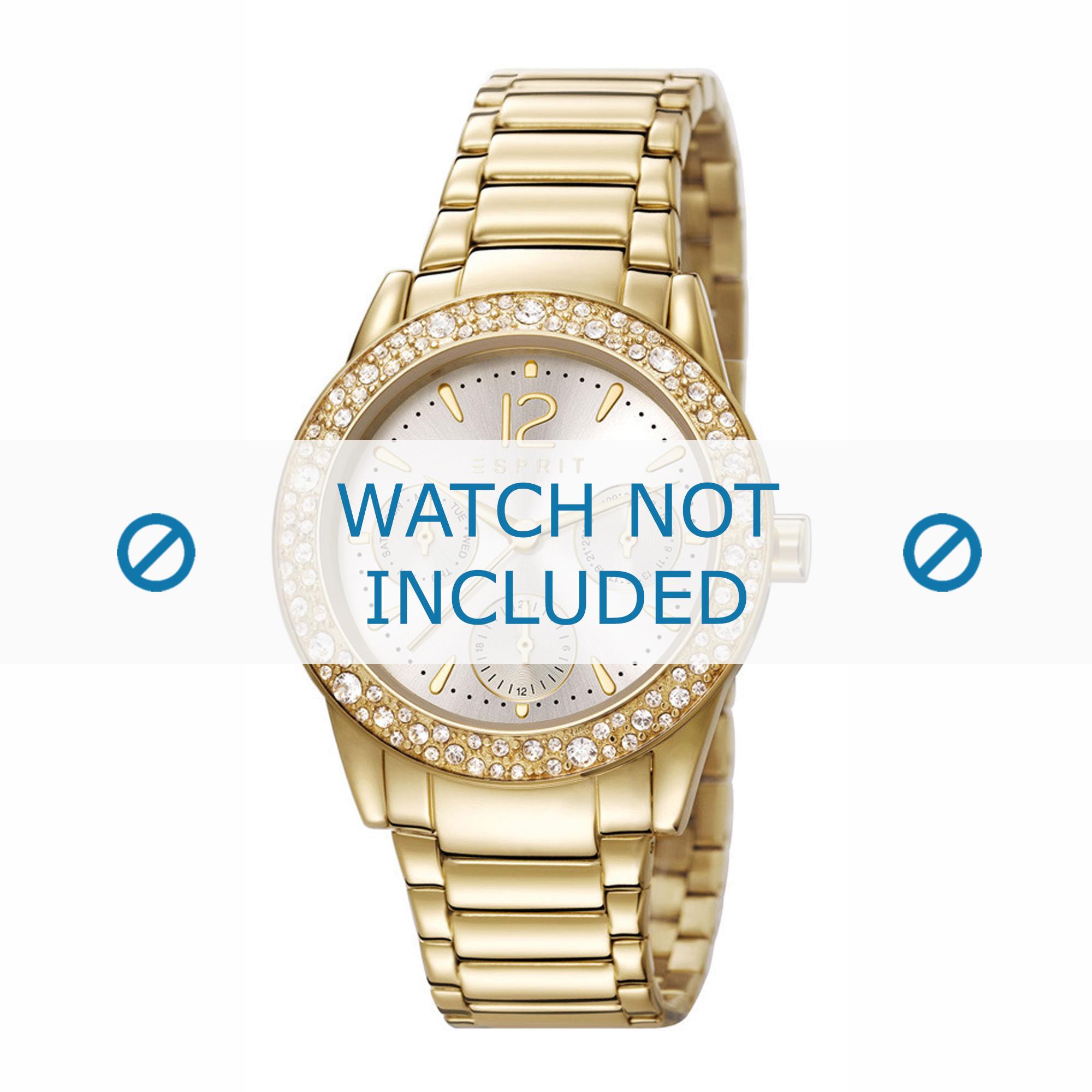 Esprit horlogeband ES107152-003 Staal Goud