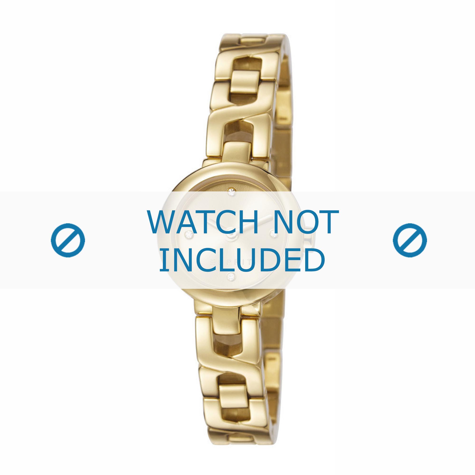 Esprit horlogeband ES107212-003 Staal Goud