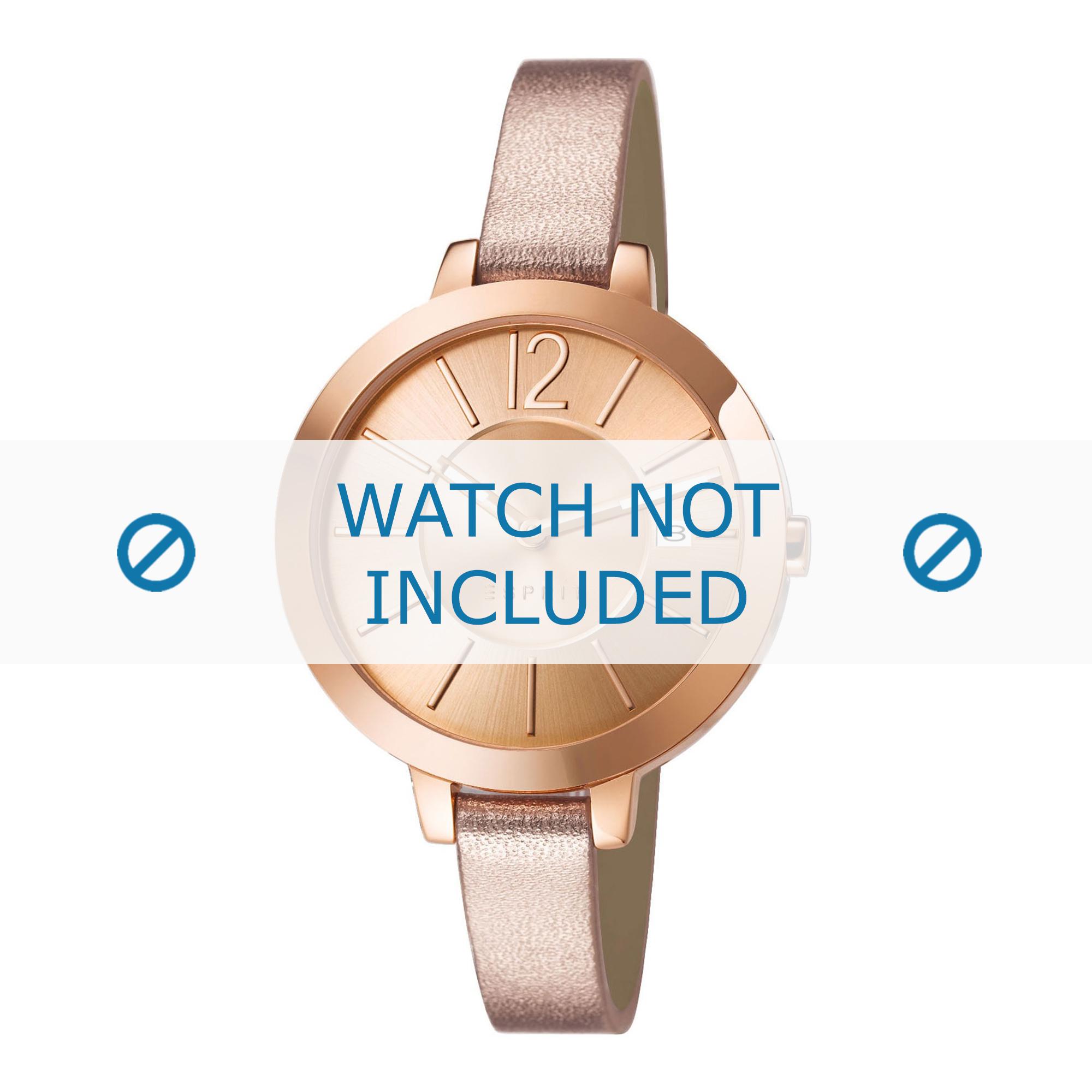 Esprit horlogeband ES107242-002 Leder Rosé