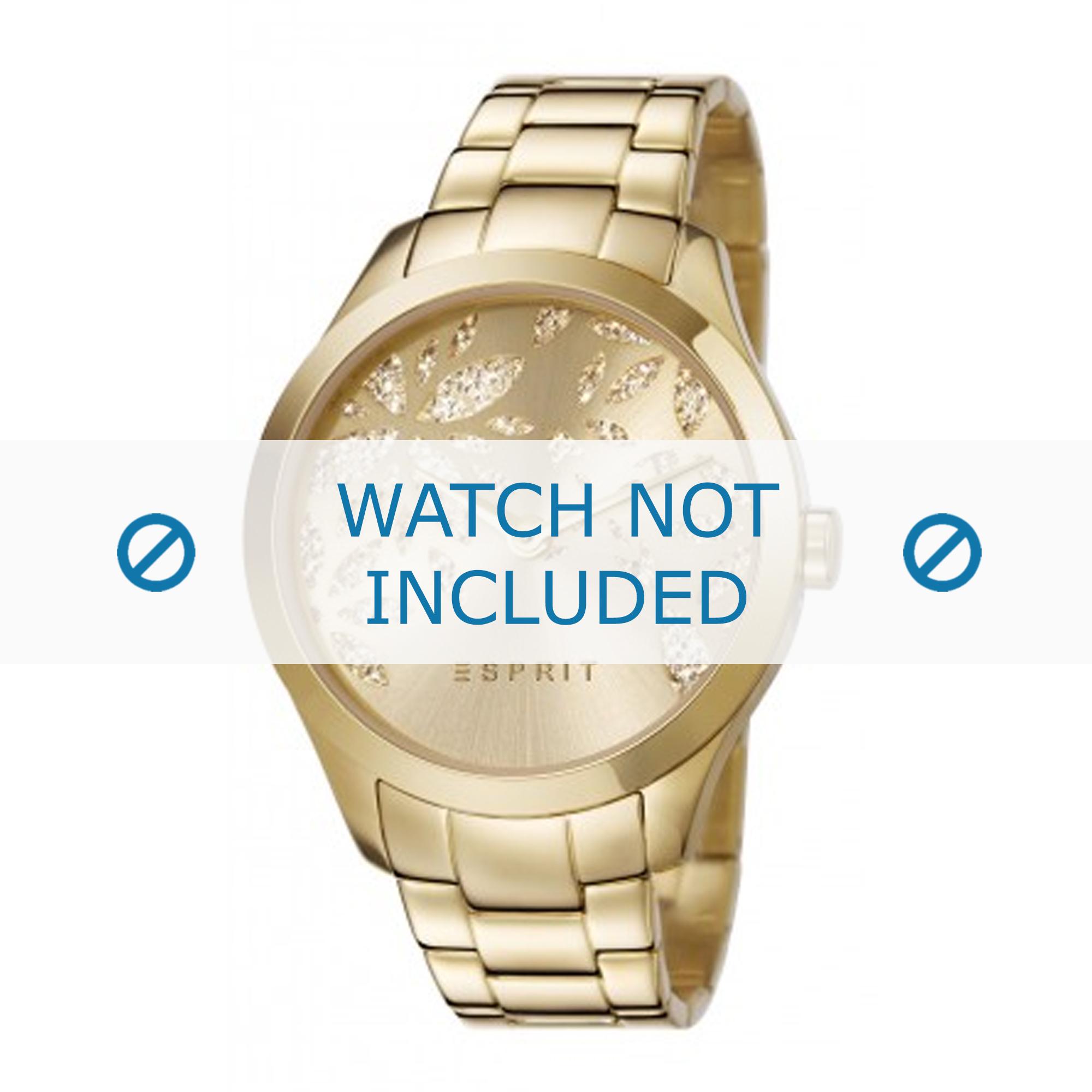 Esprit horlogeband ES107282-003 Staal Goud