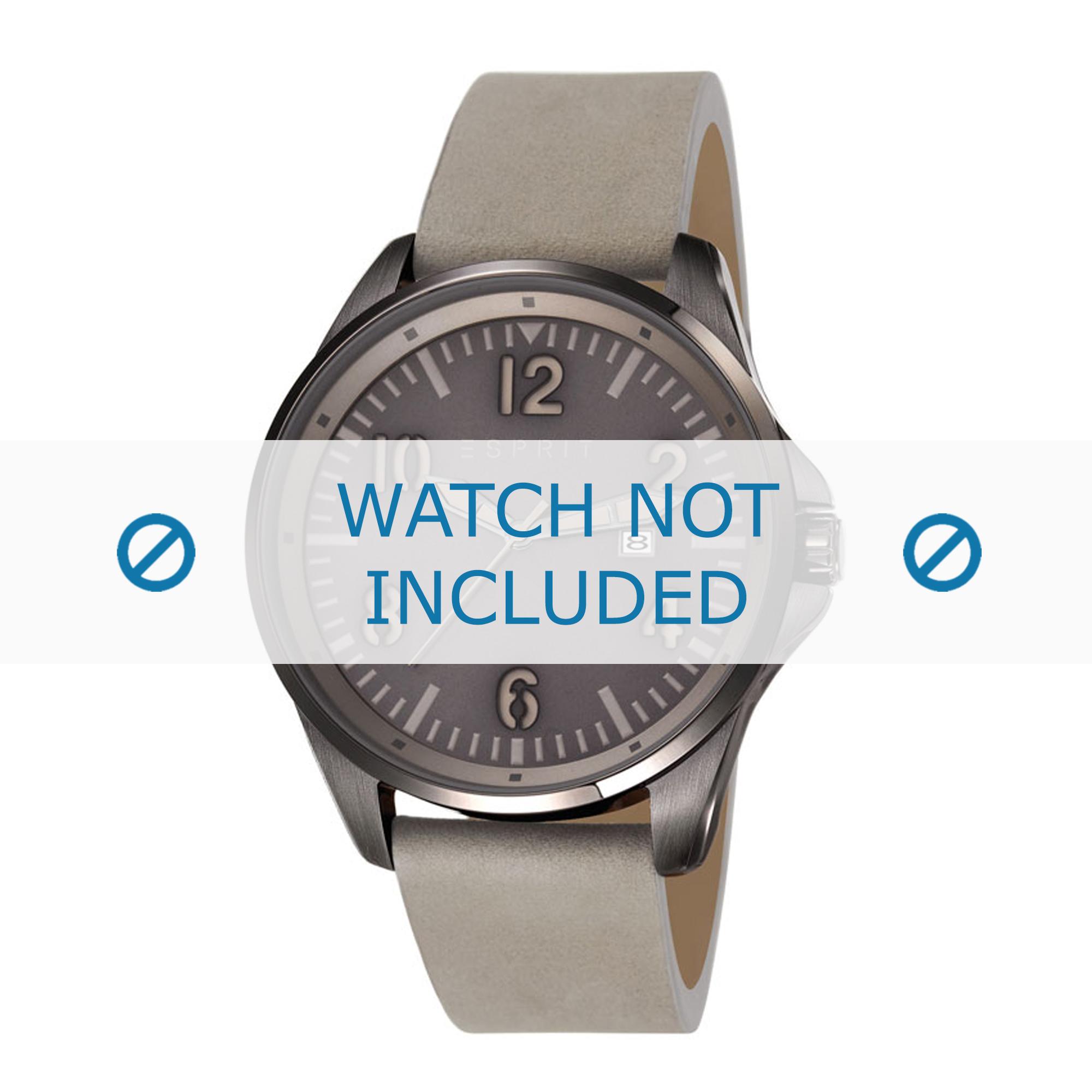 Esprit horlogeband ES107601-003 Leder Grijs