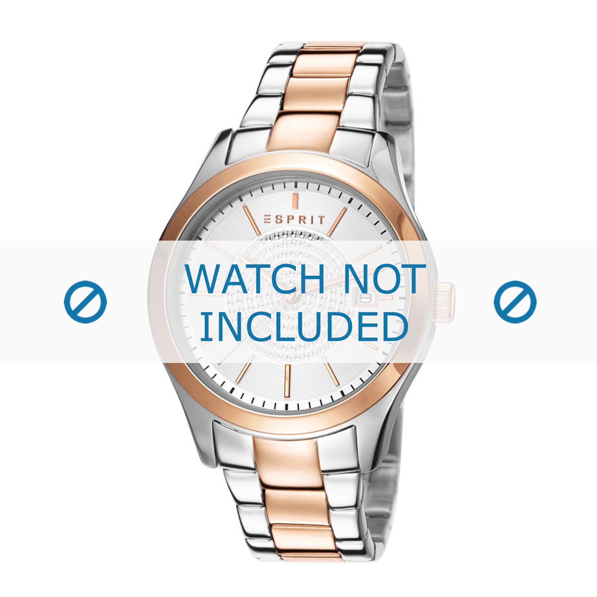 Esprit horlogeband ES107792-003 Staal Bi-Color