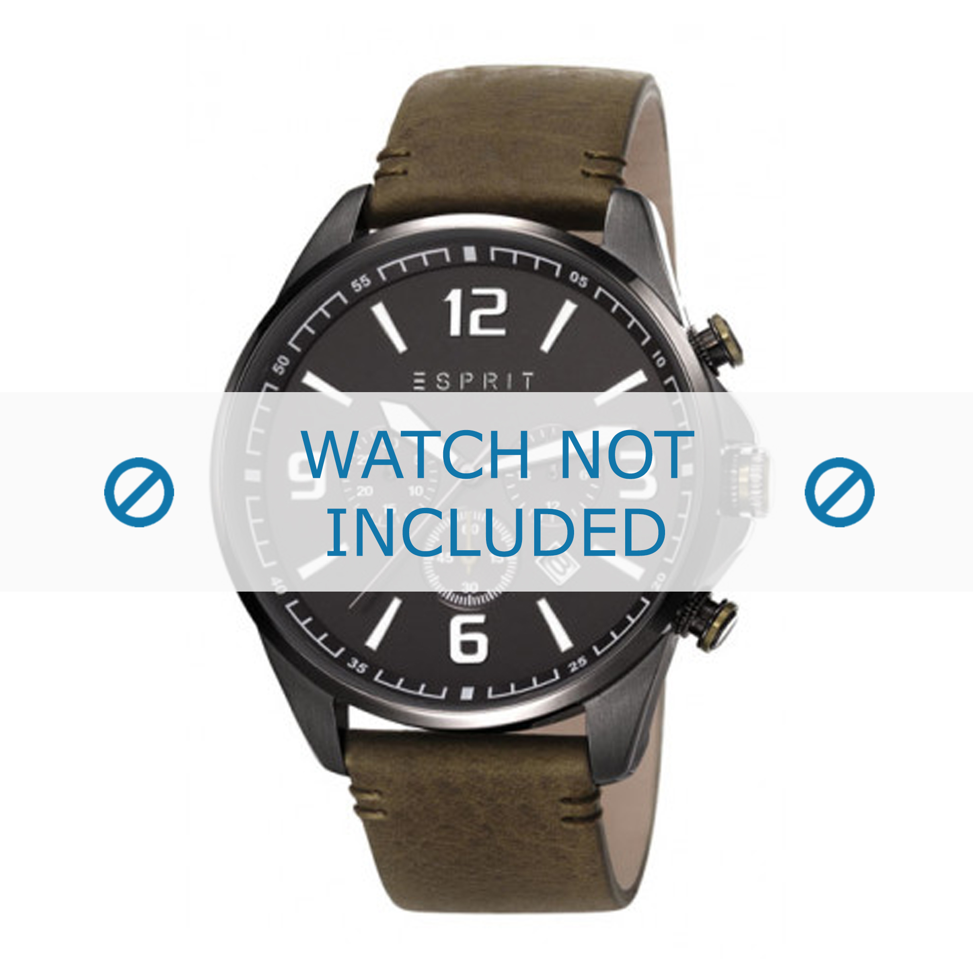 Esprit horlogeband ES108001-002 Leder Groen