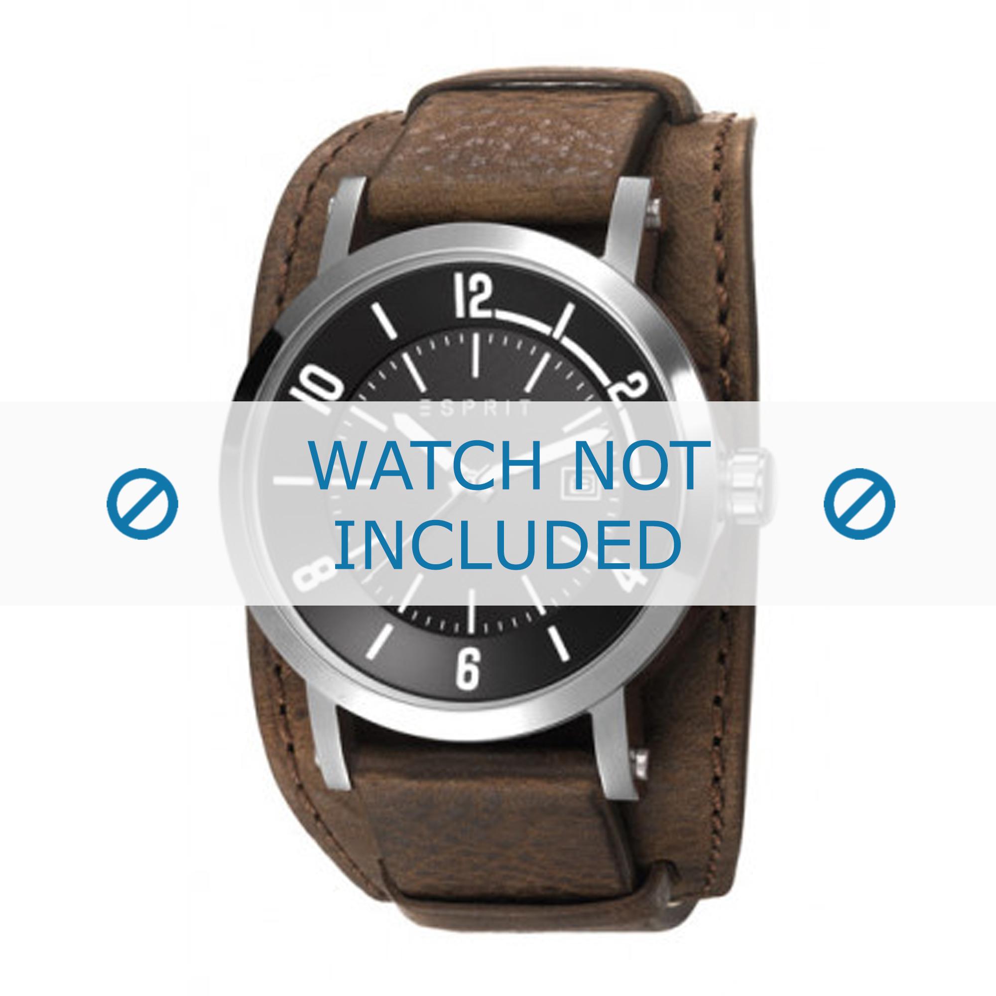 Esprit horlogeband ES108031-003 Leder Bruin + standaard stiksel