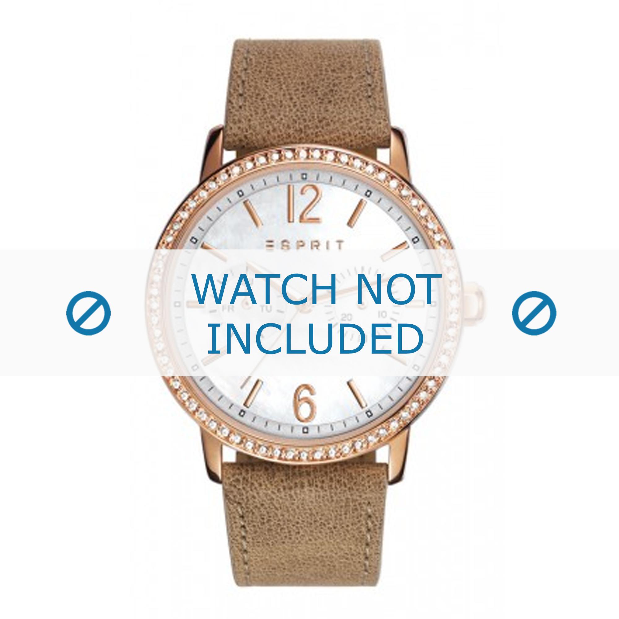 Esprit horlogeband ES108092-006 Leder Lichtbruin + standaard stiksel