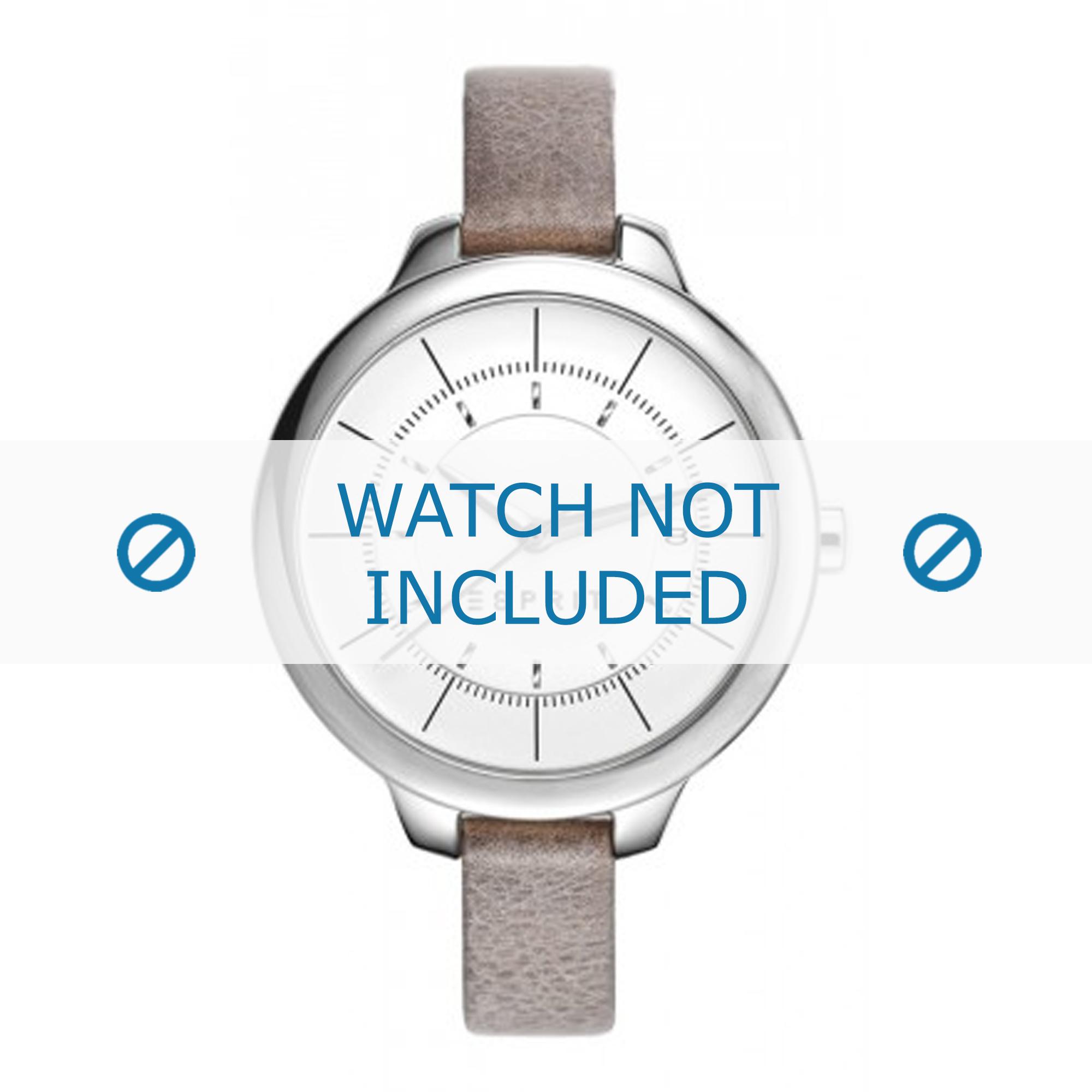Esprit horlogeband ES108192-001 Leder Taupe