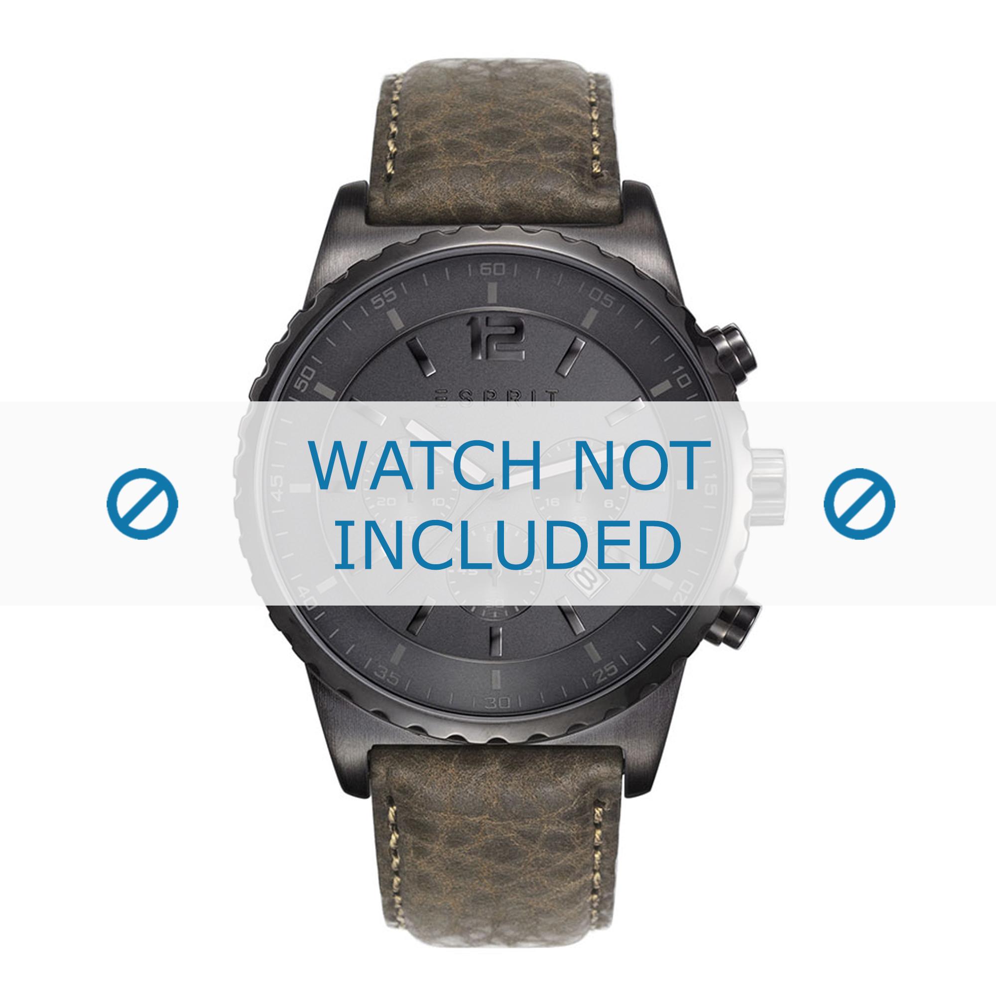 Esprit horlogeband ES108231-004 Leder Bruin + standaard stiksel