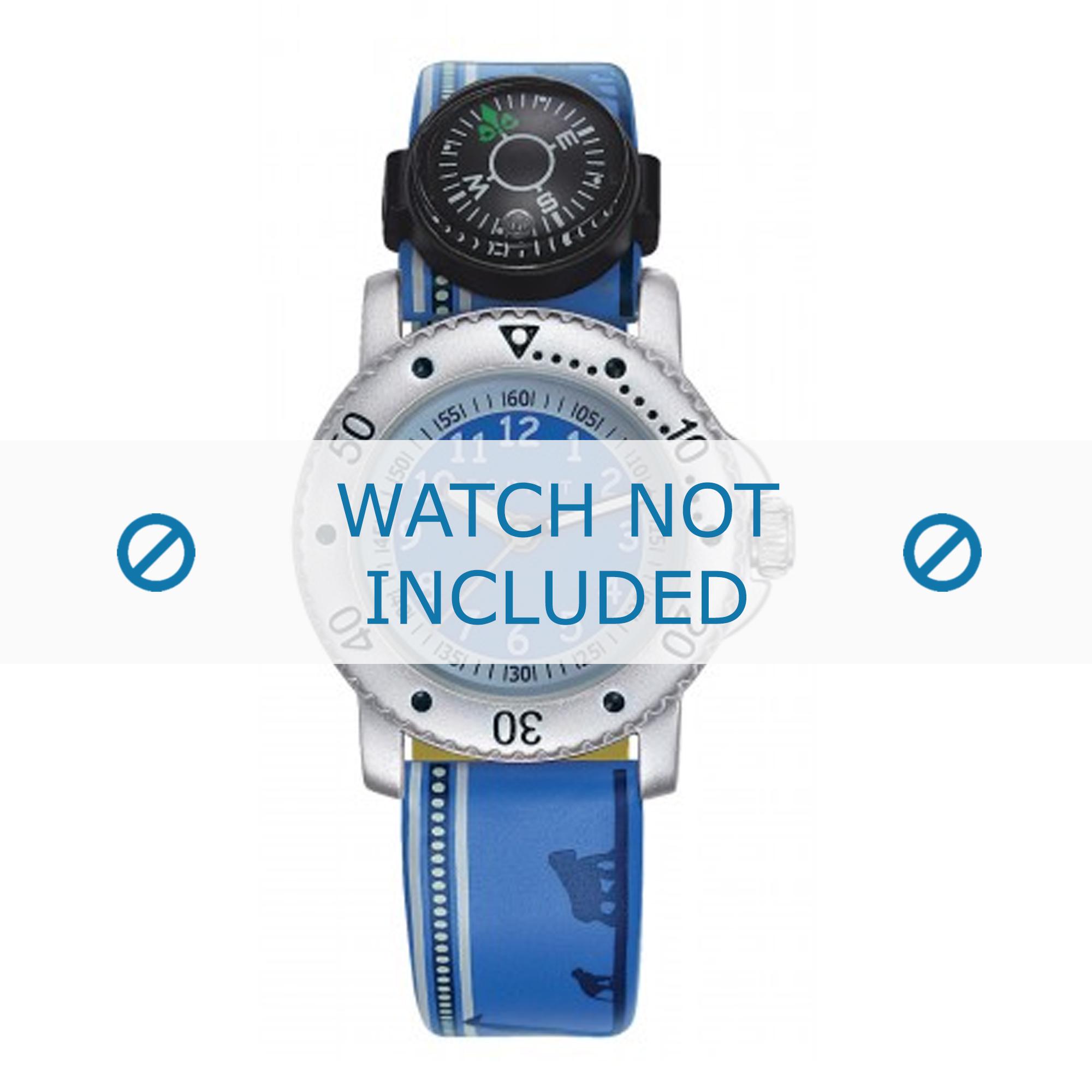 Esprit horlogeband ES108334-005 Leder Blauw