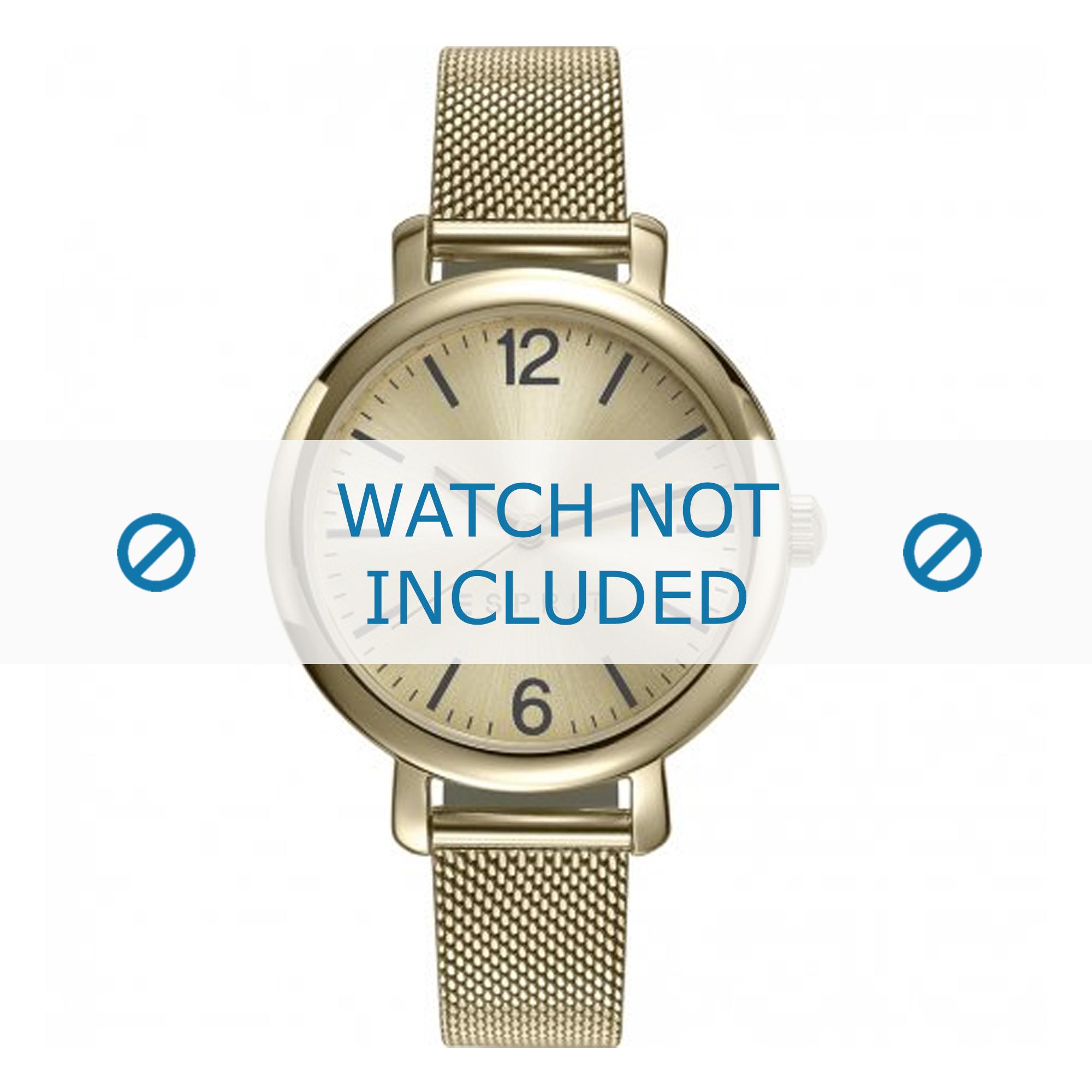 Esprit horlogeband ES906722002 Staal Goud 12mm