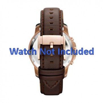 Fossil horlogeband FS-4648 Leder Bruin 22mm