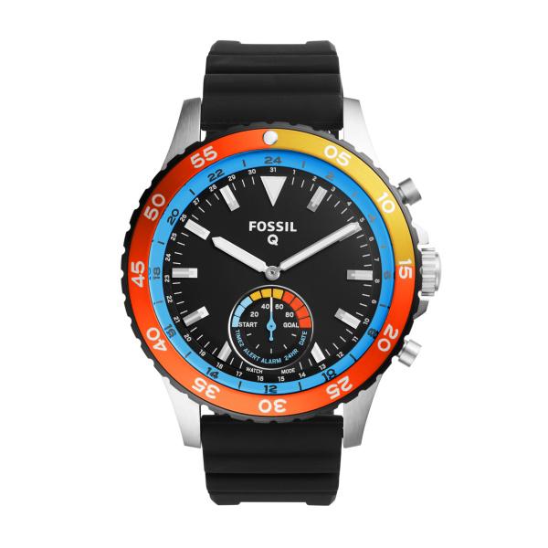 Fossil Q Crewmaster Hybrid FTW1124 Analoog Quartz horloge Herenhorloge