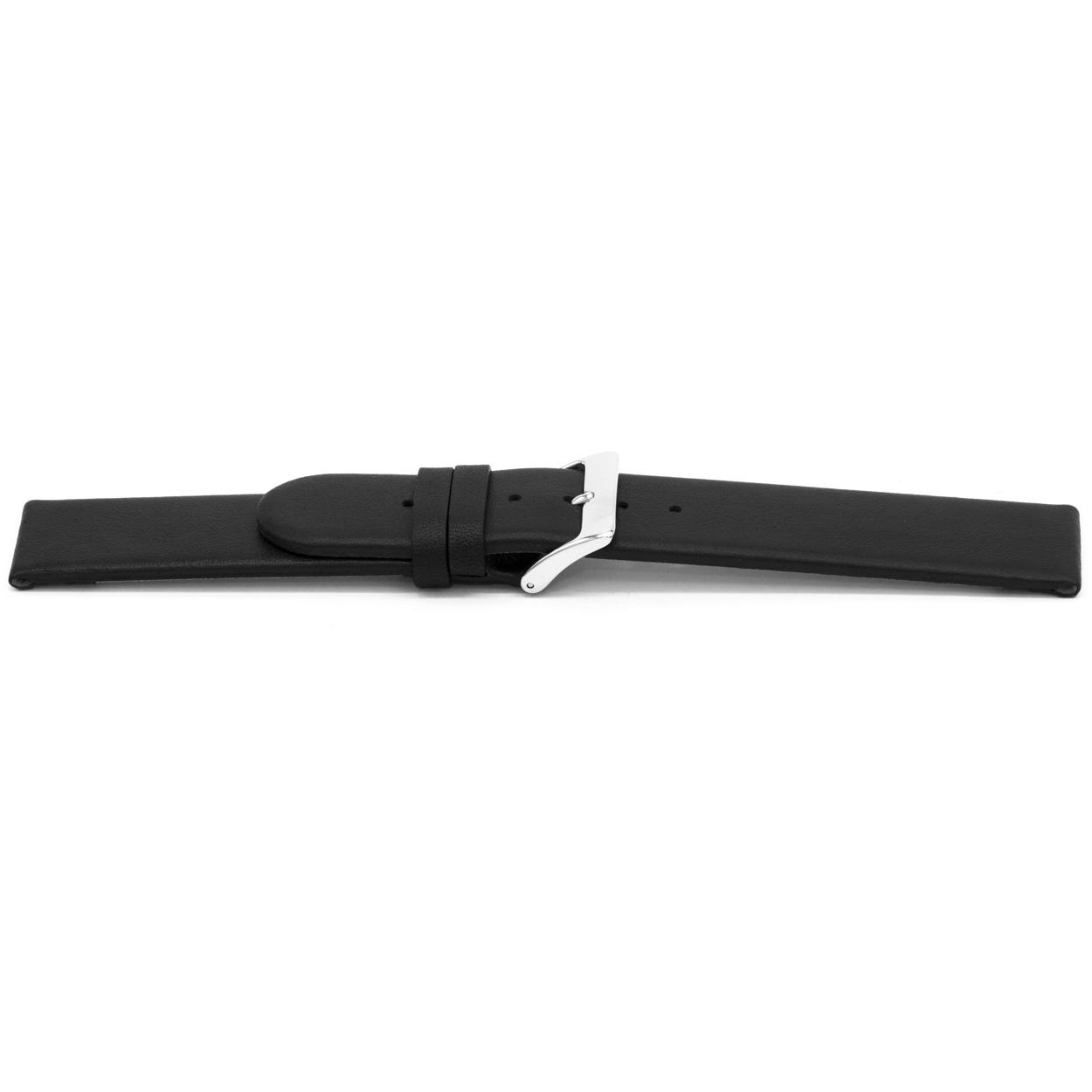 Horlogeband G116 leder zwart 20mm