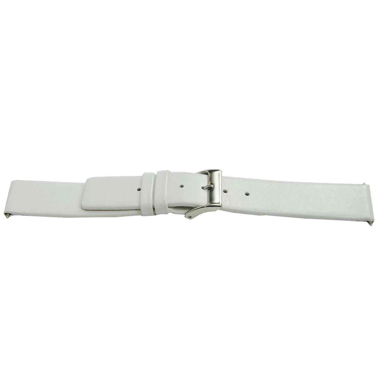 Horlogeband leder wit 22mm EX-H510