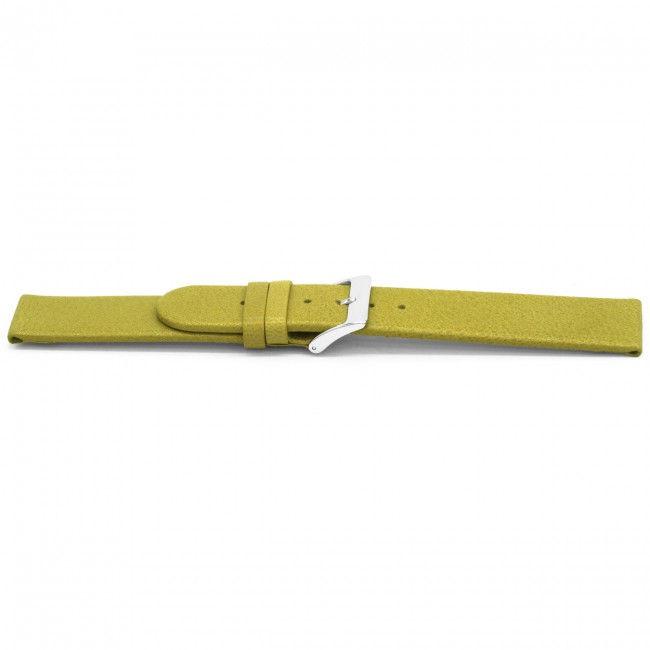 Horlogeband G862 leder olijfgroen 20mm
