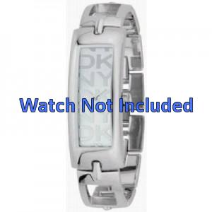 DKNY horlogeband NY-3165 Staal Zilver 15mm