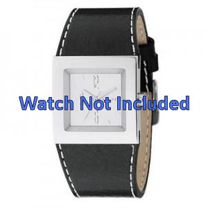 DKNY horlogeband NY-3219 Leder Zwart 30mm