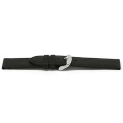 Echt lederen horlogeband zwart 18mm F-129