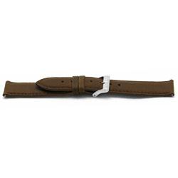 Horlogeband leder cognac 22mm EX-H344