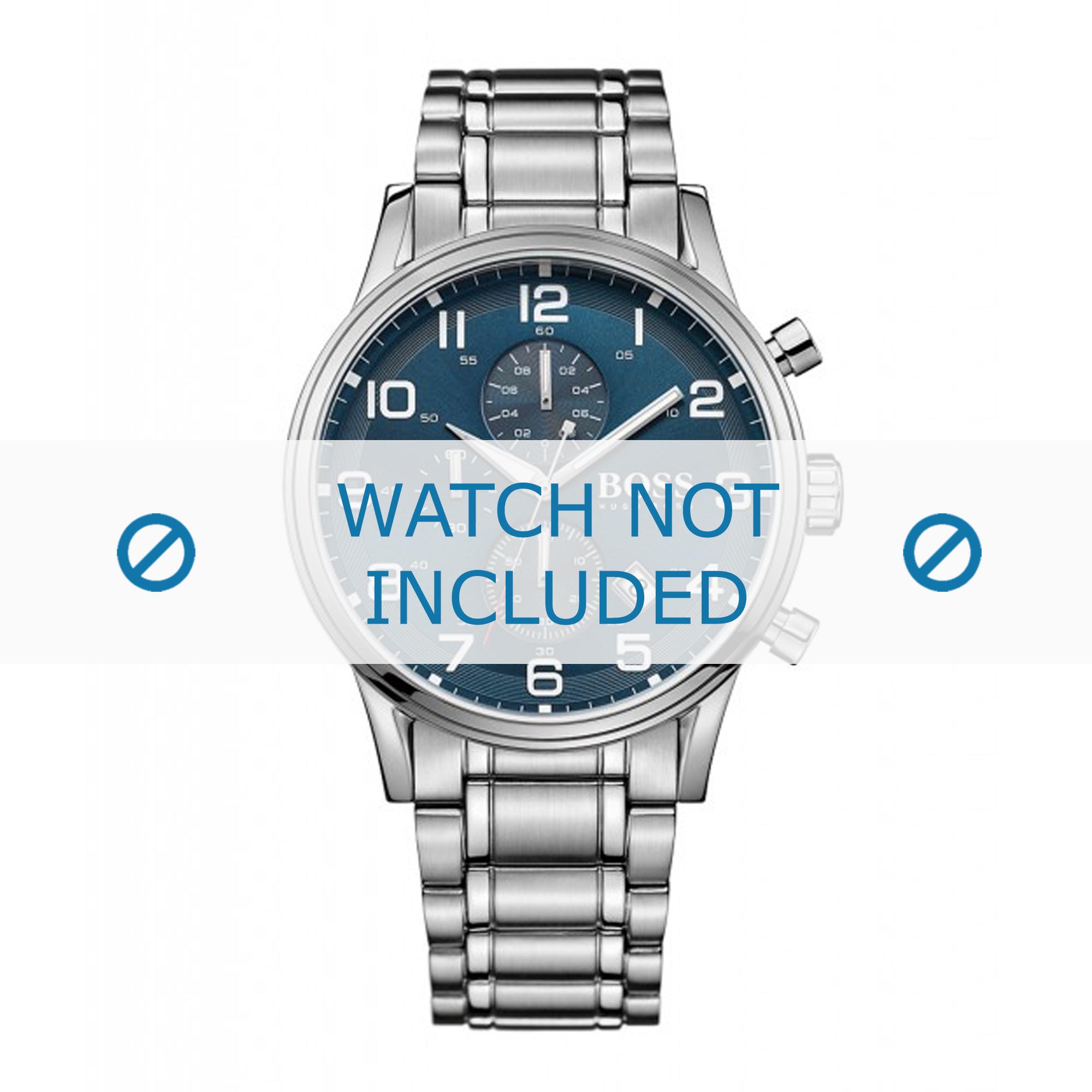 Hugo Boss horlogeband HB-271-1-27-2806 / HB1513230 Staal Zilver