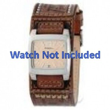 Fossil horlogeband JR-8829 Leder Bruin 18mm