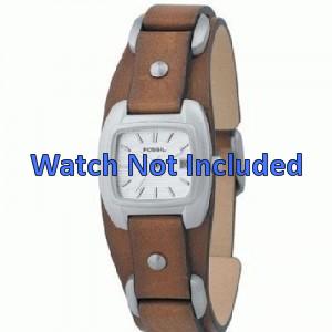 Fossil horlogeband JR-8897 Leder Bruin 12mm