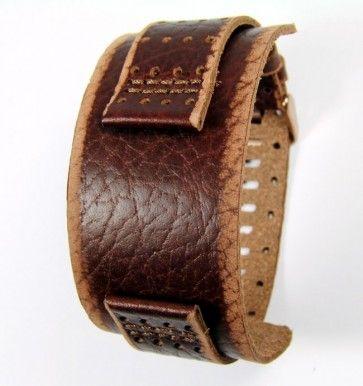 Fossil horlogeband JR9040 Leder Bruin 22mm