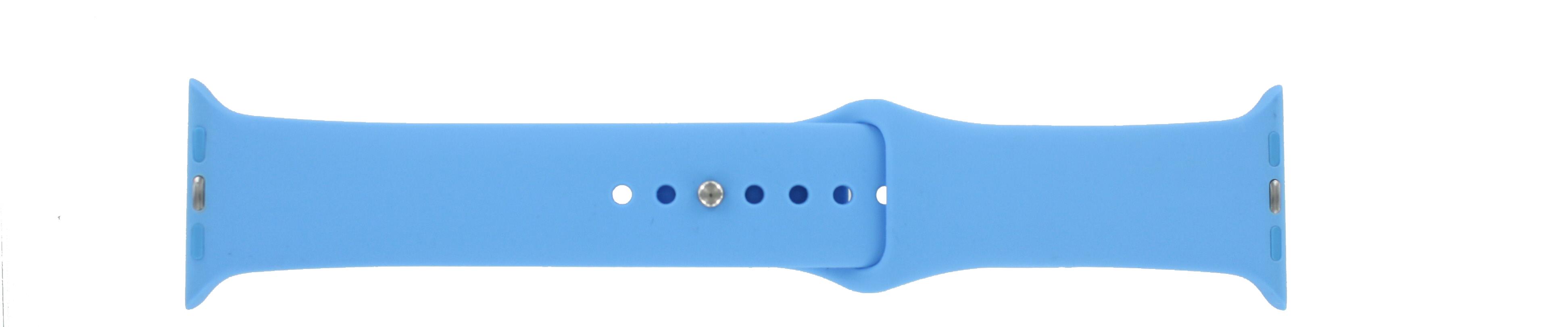 Apple (vervangend) horlogeband LS.AB.109 Silicoon Blauw 42mm