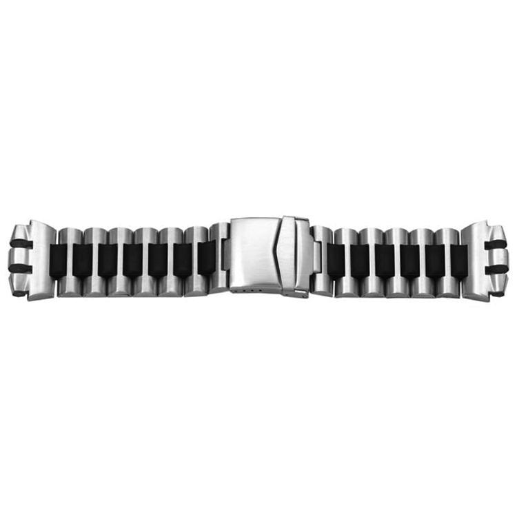 Horlogeband passend aan Swatch metaal zwart 21mm 1081