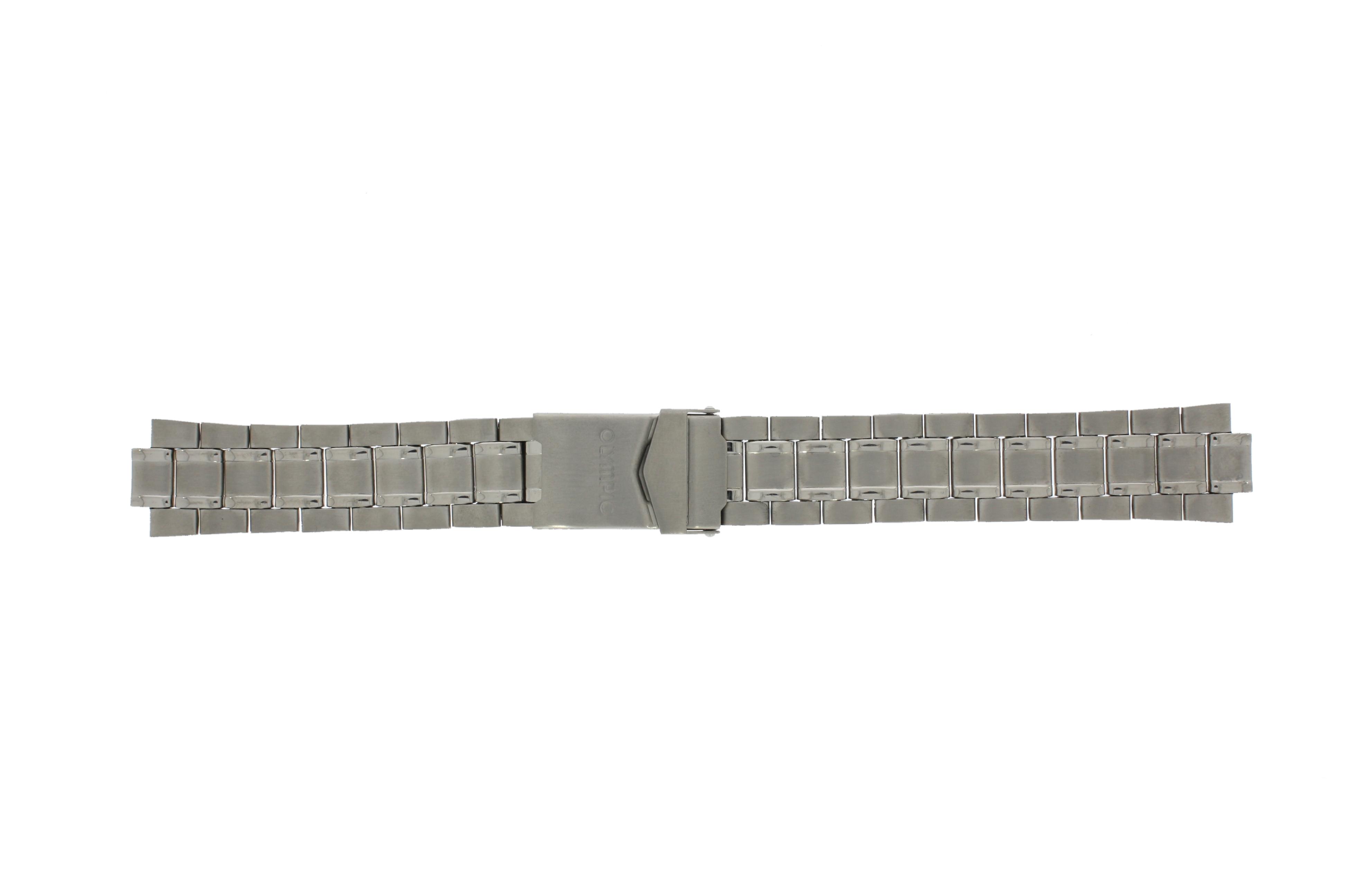 Olympic horlogeband 26HTT163 Staal Zilver 20mm