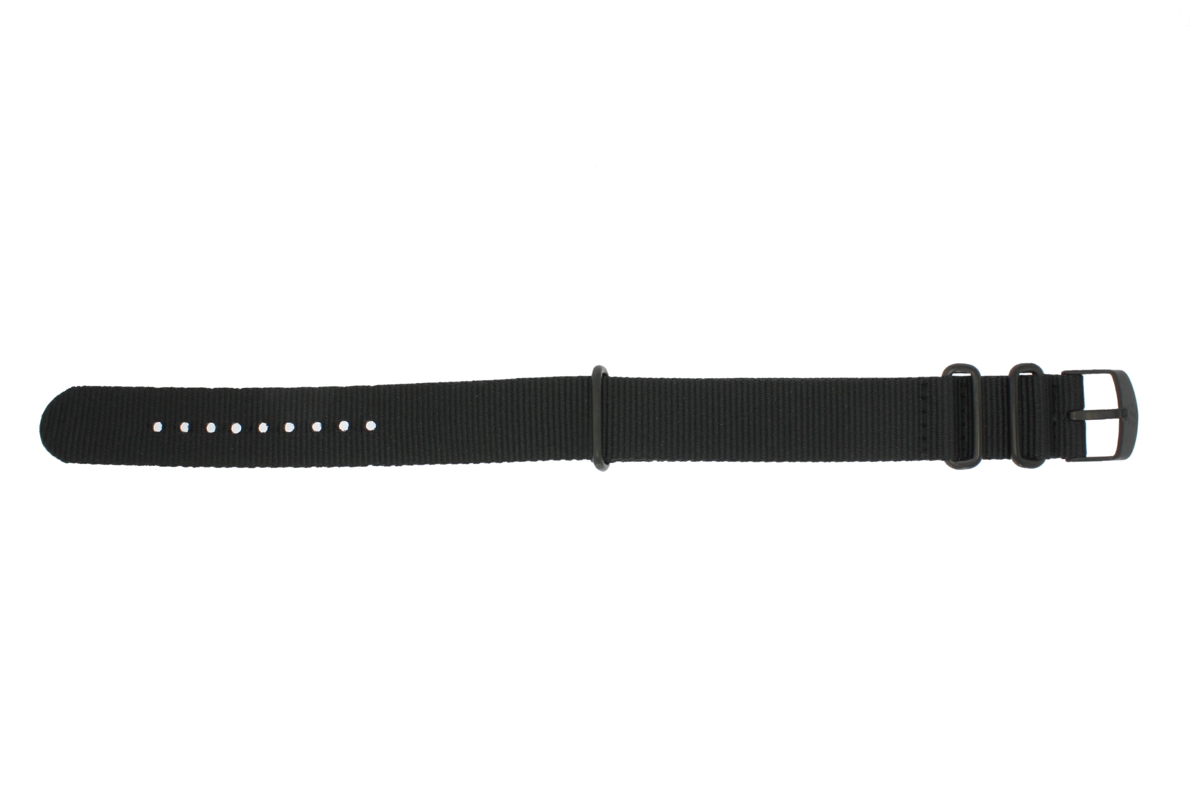 Timex horlogeband P49933 Textiel Zwart 20mm