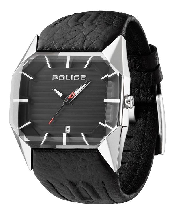 Police horlogeband 12176J Leder Zwart