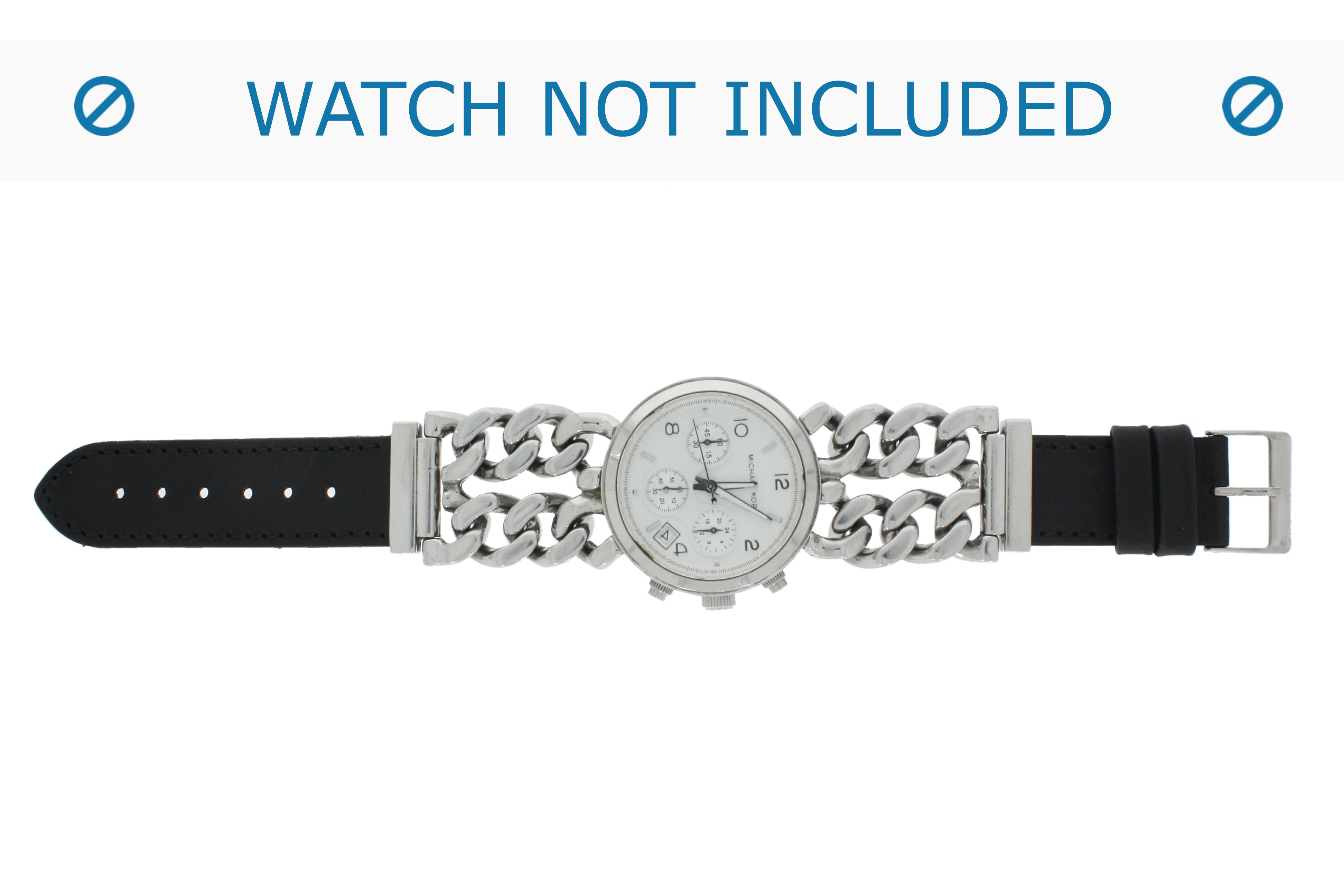 Horlogeband 830.01.20 Short (70x40mm) Leder Zwart 20mm + standaard stiksel