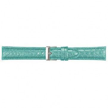Leder kroko horlogeband licht blauw 20mm PVK-418