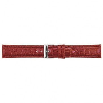 Leder kroko horlogeband bordeaux 16mm PVK-418