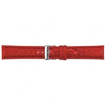 Leder kroko horlogeband rood 12mm PVK-418