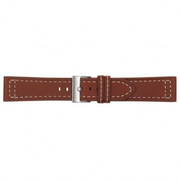 Horlogeband cognac leder 22mm 423