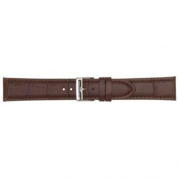 Leder horlogeband bruin 22mm PVK-469