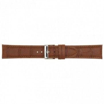 Leder horlogeband cognac 22mm PVK-469