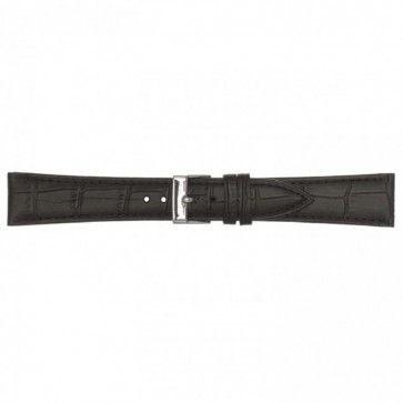 Leren horlogeband zwart 20mm PVK-497