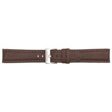 Poletto horlogeband leder bruin 24mm 540