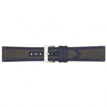 Horlogeband carbon donker blauw 24mm PVK-865