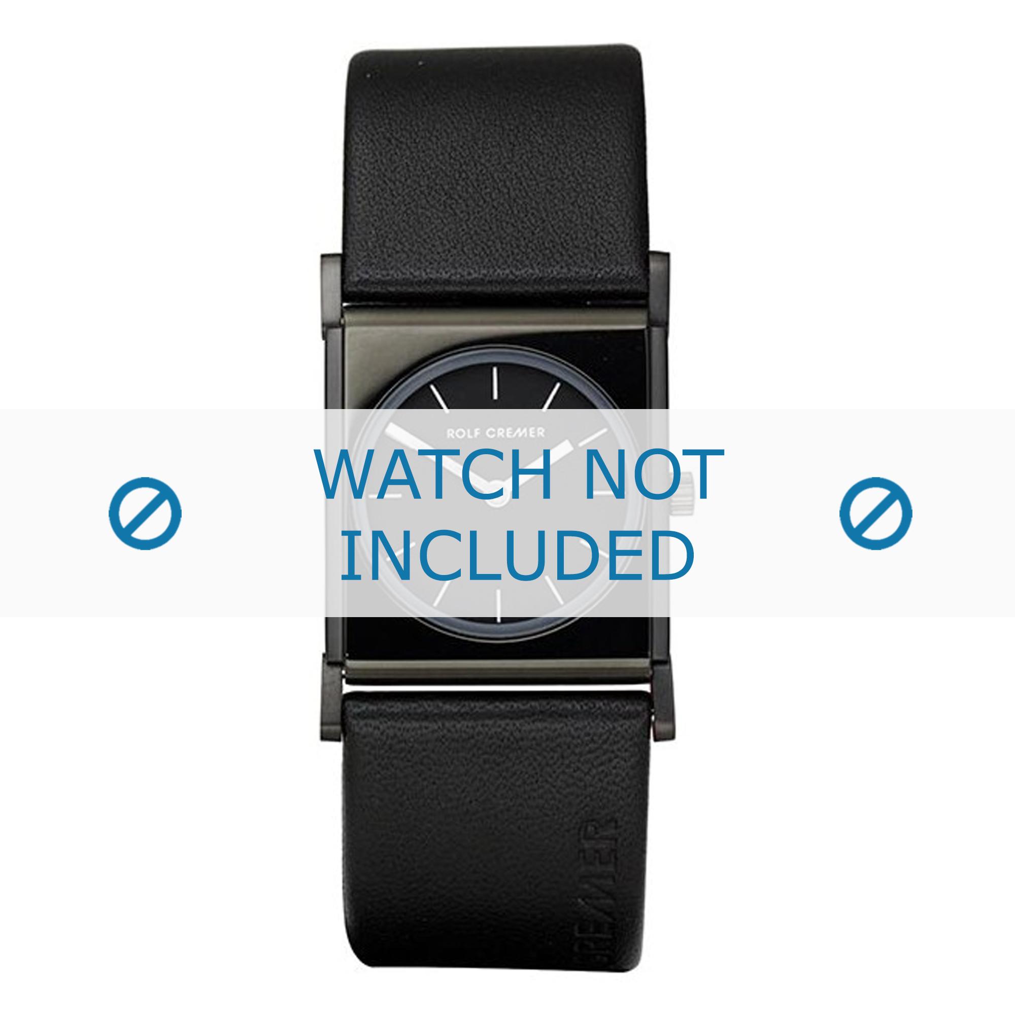 Rolf Cremer horlogeband 497902 Leder Zwart 24mm