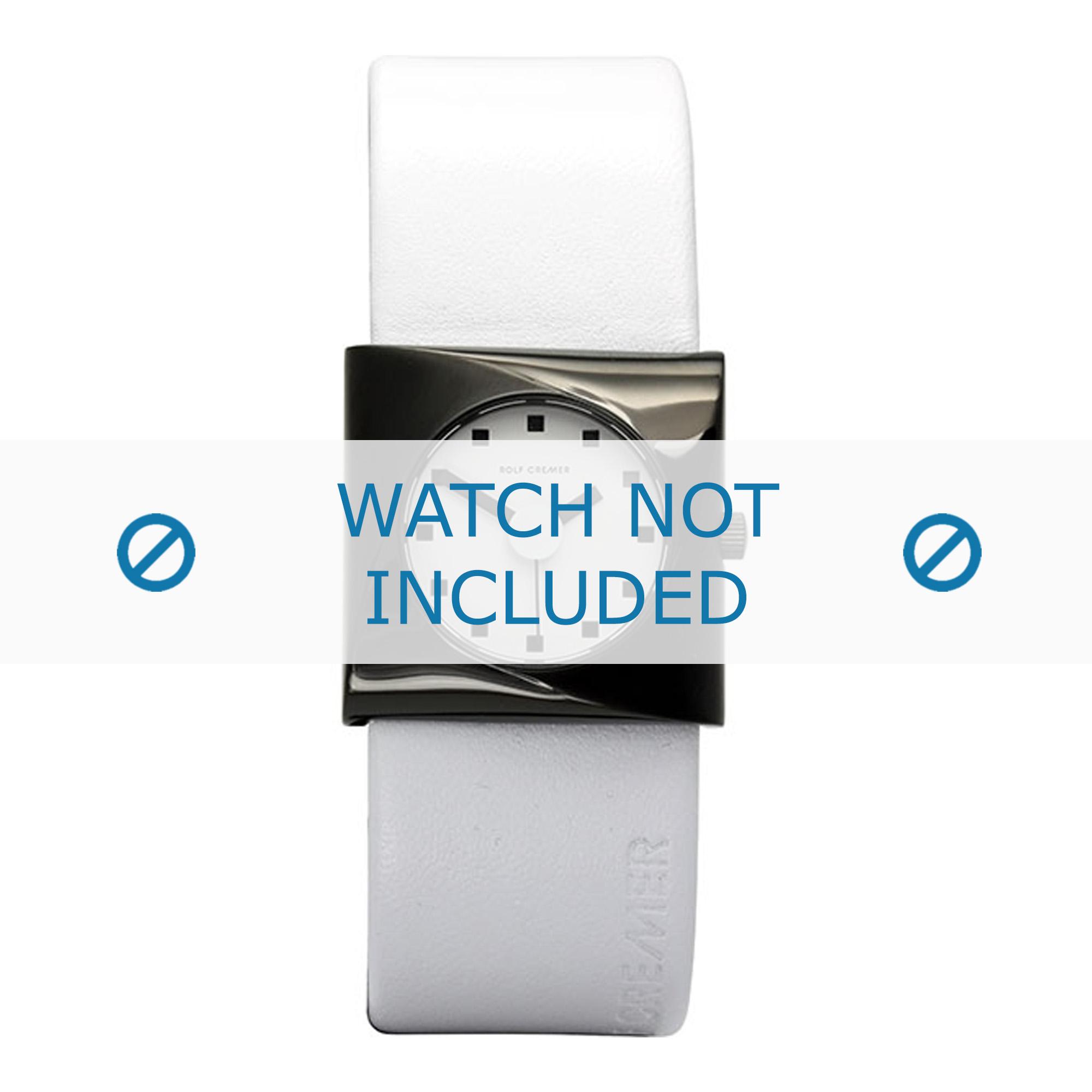 Rolf Cremer horlogeband 499807 Leder Wit 24mm