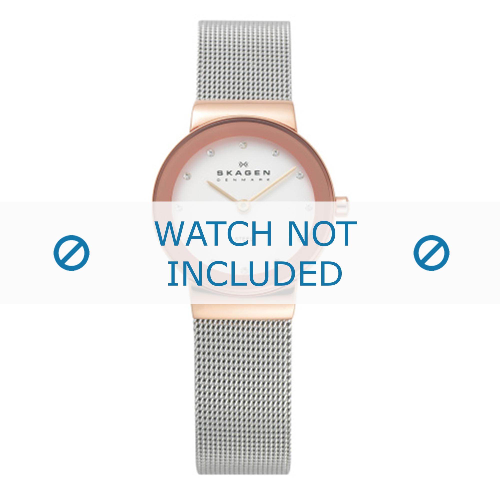 Skagen horlogeband 358SRSC Staal Zilver 14mm